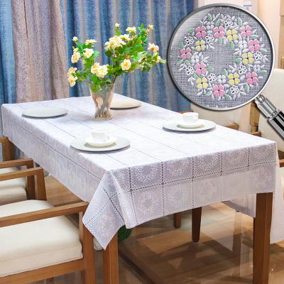 润棠(Runtang)简约现代PVC桌布台布防水防烫防油免洗透明胶垫餐桌垫茶几垫水晶板彩色印花系列