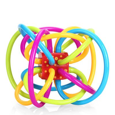 【兒童牙膠球】美國原裝進口曼哈頓球manhattan toy牙膠球嬰兒玩具搖鈴抓握球 0-12月寶寶手抓球 不含BPA