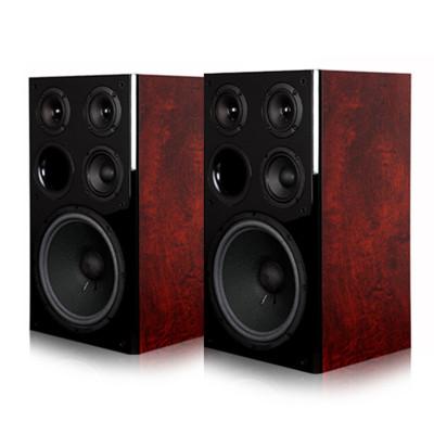 天逸(Winner)BL-1 百靈一號卡拉OK音箱10寸 2.0聲道棗紅色桌面式hifi音箱原木皮飾面 家用音響設備