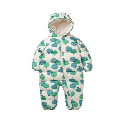 迷你巴拉巴拉童裝嬰兒羽絨連體衣男女寶寶2020冬加厚保暖哈衣爬服