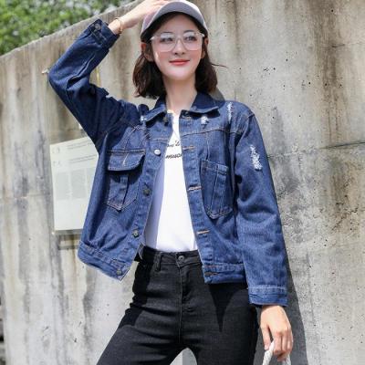 轻奢世家ins牛仔外套女2019秋新款韩版修身显瘦bf上衣长袖小清新