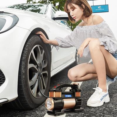 尤利特(UNIT)車載充氣泵汽車打氣泵便攜式車用小轎車雙缸大功率多功能高壓輪胎點煙器電源直流12V YD-3312C數顯
