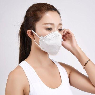 年后发货 防尘口鼻罩防雾霾口罩防尘透气防工业粉尘N95口罩成人防病菌 9种防颗粒物 医用耳戴式有呼气阀 2只/盒