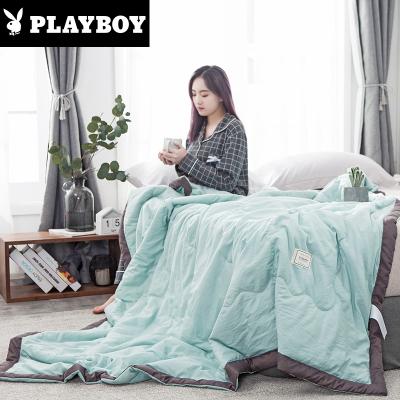 花花公子(PLAYBOY)家紡 簡約純色夏季羽絲絨夏涼被空調被水洗棉風機洗夏天被子單人薄被芯