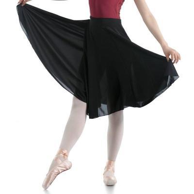 新款芭蕾舞长裙 成人芭蕾练功服女 现代舞裙性舞蹈代表性半身裙 黑色 均码