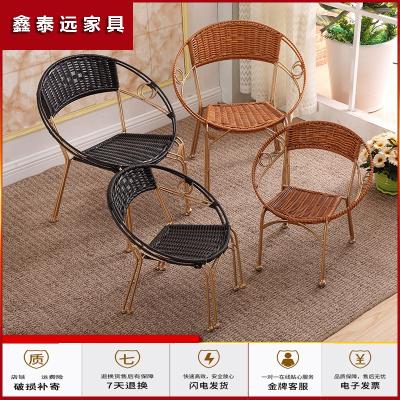 蘇寧放心購靠背椅 藤椅兒童小藤椅子陽臺椅子室外滕椅單人成人家用編織藤椅簡約新款