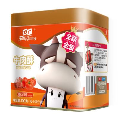 方广 宝宝零食 牛类肉松 肉酥≠肉松 牛肉酥肉粉松 番茄味 100G/罐装