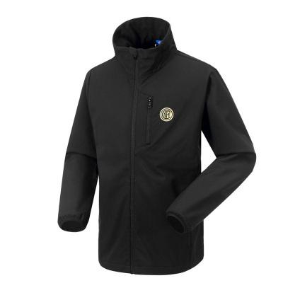 國際米蘭足球俱樂部官方秋季男子軟殼沖鋒衣彈力防風雨保暖抓絨舒適外套
