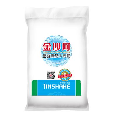 金沙河富強高筋小麥粉通用面粉 包子饅頭 不含添加劑 麥香濃郁 5kg