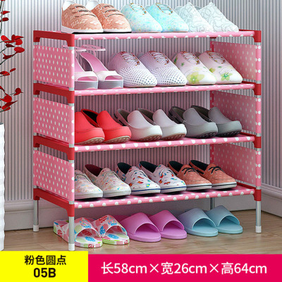 简易鞋架 无纺布铁艺多层组装鞋柜客厅卧室防尘收纳鞋架子