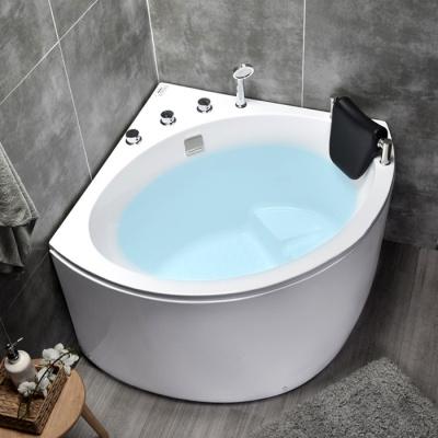 亞克力超深三角浴缸扇形轉角浴缸日式小戶型家用坐泡浴缸0.8-1米