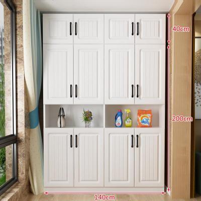 顧致北歐陽臺柜收納柜家用儲物柜防曬飄窗柜大容量雜物柜可定制