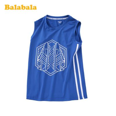 巴拉巴拉男童背心兒童夏裝中大童無袖潮酷運動透氣上衣時尚洋氣