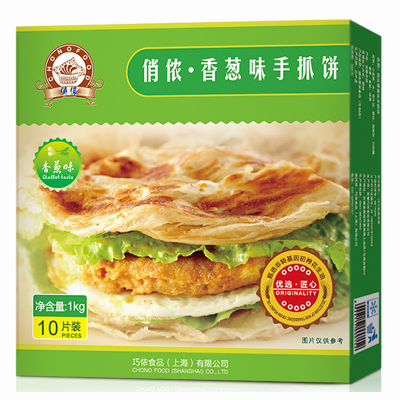 俏儂香蔥味手抓餅1kg(10片裝)