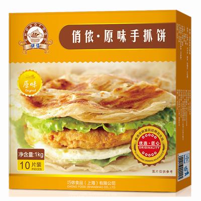 俏儂原味手抓餅1kg(10片裝)