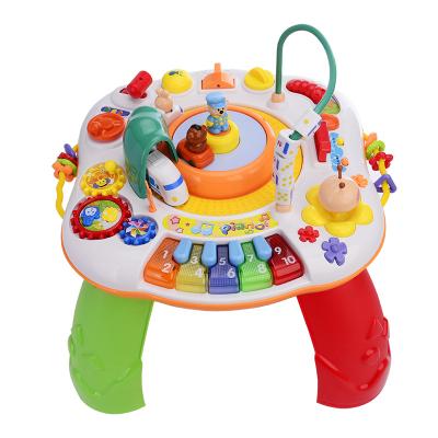 谷雨益智玩具兒童多功能和諧號學習游戲桌寶寶琴鍵音樂繞珠嬰兒小孩親子玩具1-3-6歲