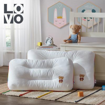 LOVO家紡 兒童枕芯舒適全棉 防螨纖維 枕頭枕芯