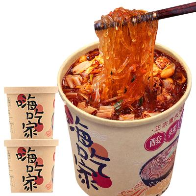 【新人专享】集香草嗨吃家酸辣粉丝桶装2桶重庆风味速食方便面办公休闲美食