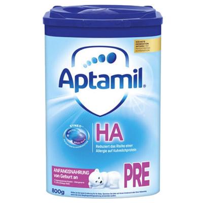 Aptamil 德國愛他美 HA防敏半水解 嬰幼兒特殊配方奶粉 pre段(0-3個月)800g/罐