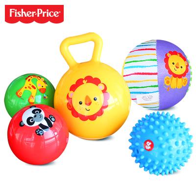 费雪Fisher Price宝宝初级训练球五合一套装 婴幼儿童玩具早教益智训练球 F0906