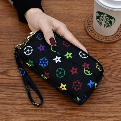 桂蘭珊(Guilanshan) 雙拉鏈手拿包女2020新款歐美時尚零錢包中老年潮爆買菜包手機包