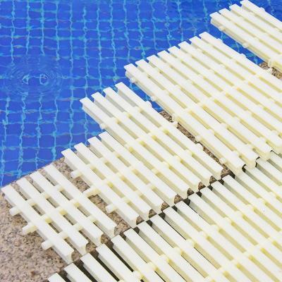 游泳池排水格柵浴室閃電客排水溝水溢水格柵塑料蓋板防滑三接口水篦子
