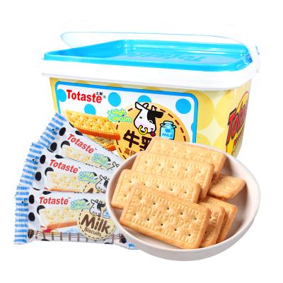 Totaste土斯 高钙香浓牛奶味牛乳饼干 休闲早餐代餐办公零食品 礼盒装500g