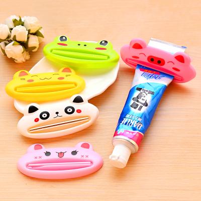 創意卡通動物擠牙膏器 多功能牙膏擠壓器自動洗面奶按壓器 映源