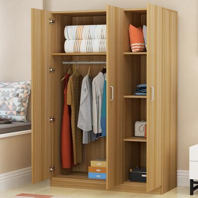 异新衣柜简约现代板式成人大衣柜2门3门4门非实木衣橱家用卧室储物简易木衣柜拼装组装经济型儿童收纳柜子