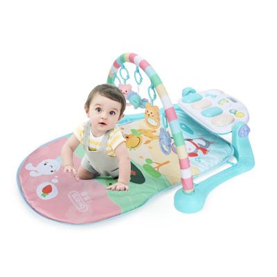貝恩施 嬰兒玩具0-1歲 兒童健身架 新生兒玩具寶寶益智早教多功能音樂玩具男女孩禮物 【萌趣款】動物園腳踏健身架