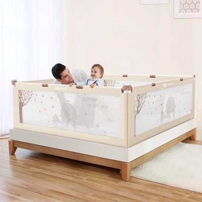 【棒棒猪】升降款床护栏1.8米(BBZ-112)米白亲子象1面装 ABS材质 大床围栏垂直升降