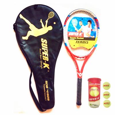 SUPER-K/獅普高41828全碳一體網球拍超輕納米級碳素(已穿線)男女情侶款贈3球