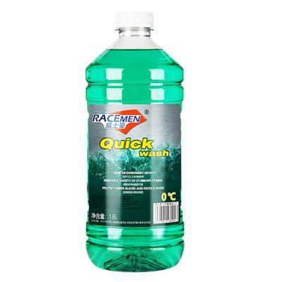高端威士曼(RACEMEN)汽車玻璃水0℃雨刮器水擋風玻璃清潔液清潔劑除鳥糞除蟲膠油膜非濃縮雨刷精夏季專用1.8L單瓶裝