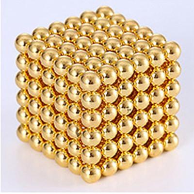 林檎巴克球 魔力磁力球 磁铁珠磁性魔方 成人减压玩具创意生日送男朋友男生老公弟弟 金色5mm圆形216颗送女朋友老婆生