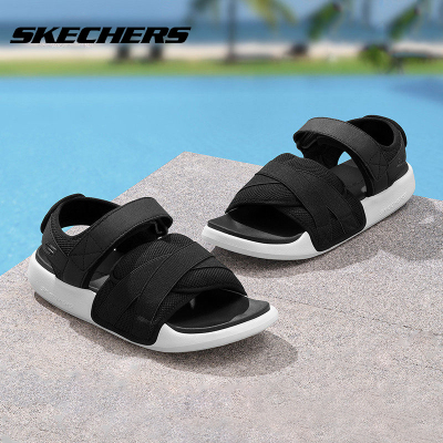 Skechers/斯凱奇鞋夏季魔術貼搭帶涼鞋時尚運動沙灘鞋51731