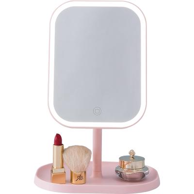 网红镜子女生补光化妆镜宿舍桌面梳妆台发光led带灯家用镜子CH型
