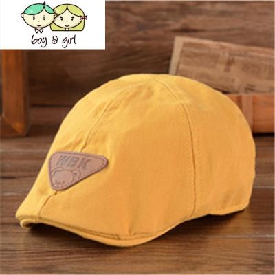 儿童贝雷帽秋冬款春夏季男女宝宝鸭舌帽婴幼儿帽子1-2-4岁