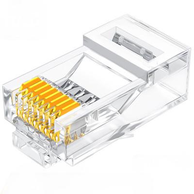 山泽SJ-C06超六类镀金水晶头千兆8P8C100个/盒单位:盒