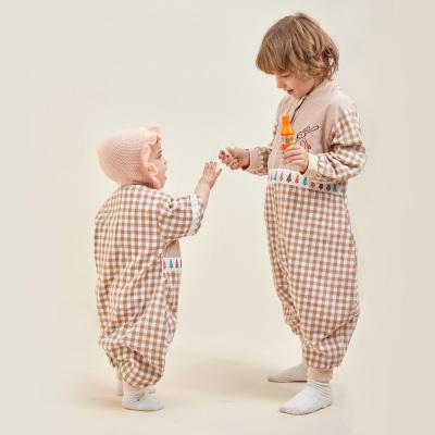 龍之涵【LONGZHIHAN】嬰兒春秋冬季款純棉寶寶分腿睡袋厚款四季大童兒童防踢被