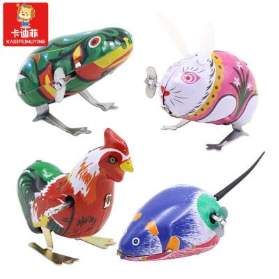 【精品特卖】可爱仿真小鸡跳跳会跑的条玩具儿童男女宝宝小孩上链迷你小玩具 青蛙+老鼠+公鸡+兔子 猫太子 猫太子