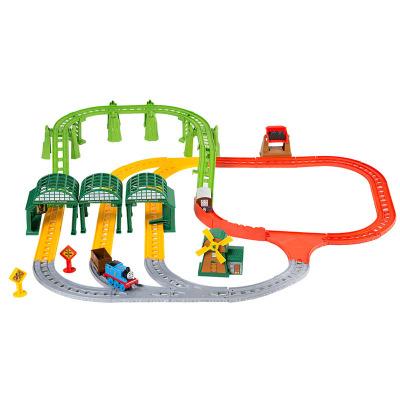 托马斯和朋友(THOMAS&FRIENDS) 费雪电动儿合金小火车儿童轨道套装玩具 DNR41 纳普福特火车站套装