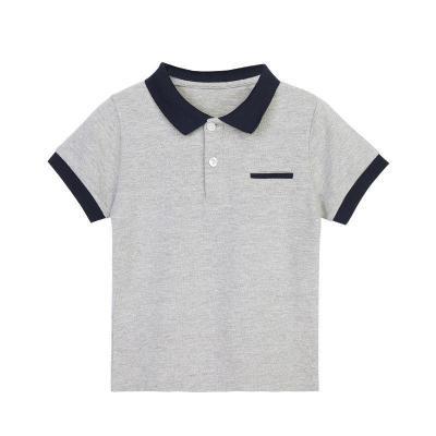 大中小童裝男童POLO衫純棉短袖T恤2019兒童夏季半袖T恤棉 莎丞