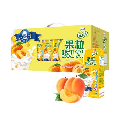【6月】伊利 優酸乳果粒酸奶黃桃味245g*12盒