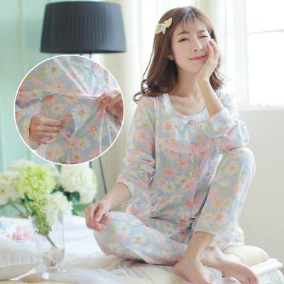 孕婦睡衣大碼產后睡衣哺乳喂奶衣夏季薄款套裝月子服春秋產后威珺