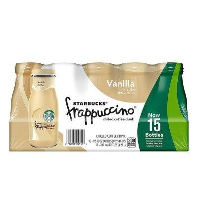 【產自美國】星巴克(starbucks)星冰樂香草味咖啡飲料 281ml*15瓶/箱 進口咖啡 進口飲料 美國進口