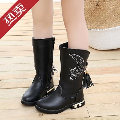 迪士尼官方3-11岁女童4靴子冬5小女孩高筒靴6棉靴加绒女宝7雪地靴学生长筒靴小孩子的