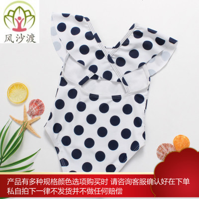 婴儿泳衣可爱韩版幼儿童波点连体泳装宝宝公主女小孩1-7岁比基尼图片件数为展示