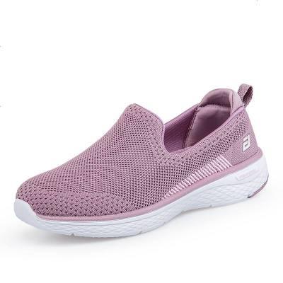 夏季中老年健步鞋防滑軟底媽媽運動鞋輕便一腳蹬女鞋老北京布鞋女
