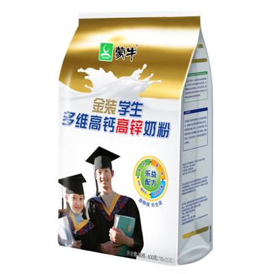 蒙牛(MENGNIU)金裝學生多維高鈣高鋅牛奶粉400g小條袋裝青少年沖飲大品牌更放心