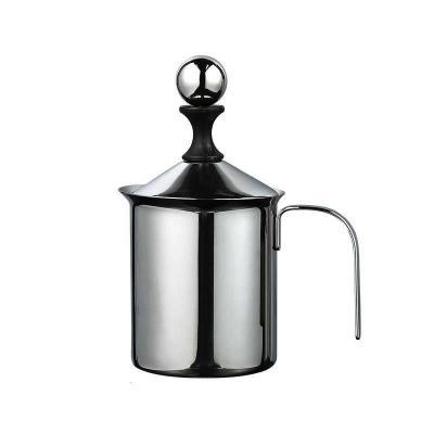 手動雙層不銹鋼打奶泡器咖啡奶泡機牛奶打奶器奶缸咖啡打奶器時光舊巷奶泡機 手動奶泡器800cc(大號)